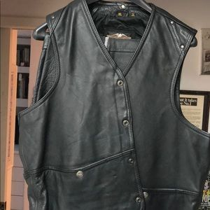 Men's Harley Davidson leather vest and Protech